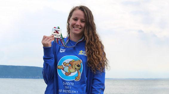 Michela Cogo, una campionessa in acque libere con un messaggio importante per tutti i bambini col diabete